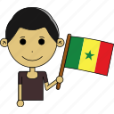 avatar, country, fantastic, flags, man, senegal, world icon