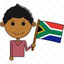 africa, avatar, country, flags, man, south, world icon