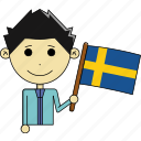 avatar, country, fantastic, flags, man, sweden, world icon