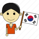 avatar, country, flags, korea, man, south, world icon