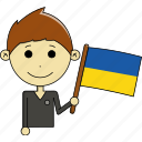 avatar, country, fantastic, flags, man, ukraine, world icon