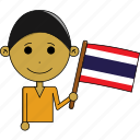 avatar, country, fantastic, flags, man, thailand, world icon