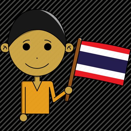 avatar, country, fantastic, flags, man, thailand, world icon