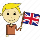 avatar, country, flags, kingdom, man, united, united kingdom icon