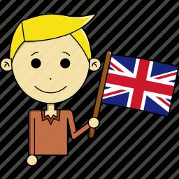 avatar, country, flags, kingdom, man, united, united kingdom icon