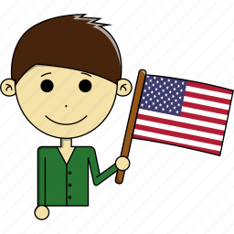 america, country, flags, man, states, united, usa icon