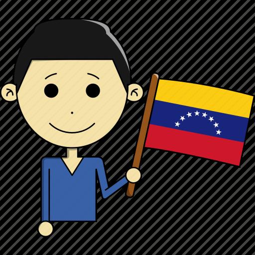 avatar, country, fantastic, flags, man, venezuela, world icon