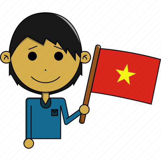 avatar, awesome, country, flags, man, vietnam, world icon