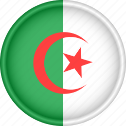 africa, algeria, attribute, country, flag, national icon