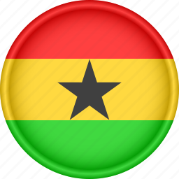 africa, attribute, country, flag, ghana, national icon
