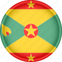 america, attribute, country, flag, grenada, national icon