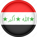 asia, attribute, country, flag, iraq, national icon