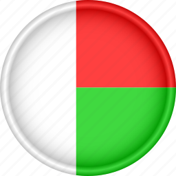africa, attribute, country, flag, madagascar, national icon