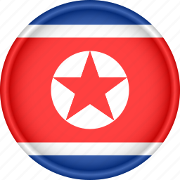 asia, attribute, country, flag, national, north korea icon