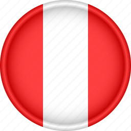 america, attribute, country, flag, national, peru icon