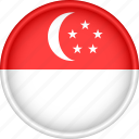 asia, attribute, country, flag, national, singapore