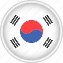 asia, attribute, country, flag, national, south korea icon