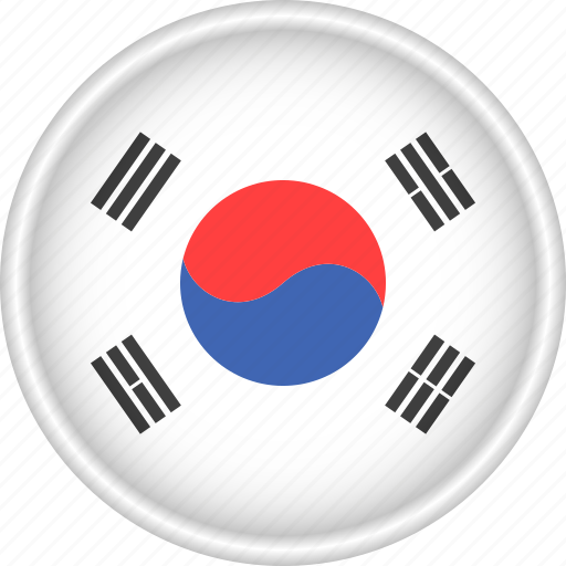 Asia, attribute, country, flag, national, south korea icon - Download on Iconfinder