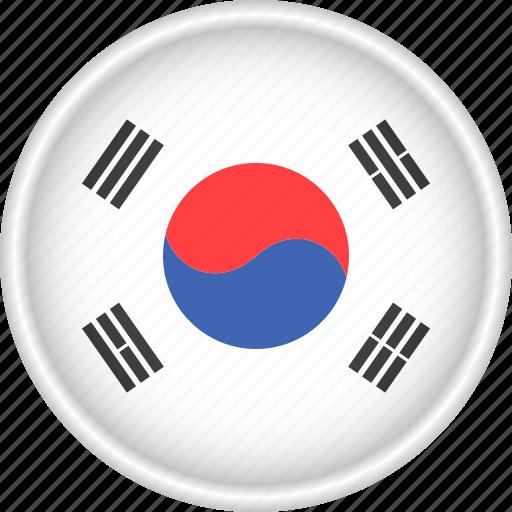 asia, attribute, country, flag, national, south korea icon