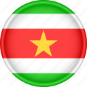 america, attribute, country, flag, national, suriname