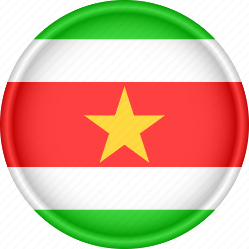 america, attribute, country, flag, national, suriname icon