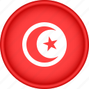 africa, attribute, country, flag, national, tunisia
