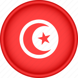 africa, attribute, country, flag, national, tunisia icon