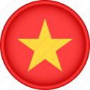 asia, attribute, country, flag, national, vietnam