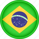 america, attribute, brazil, country, flag, national icon