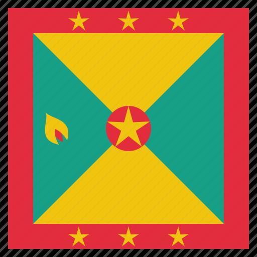 country, flag, grenada, grenadian, national icon