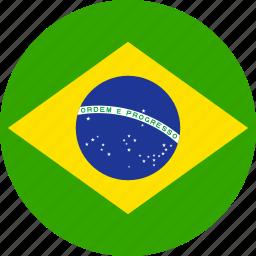brasil, brasilian, brazil, brazilian, circle, country, flag icon