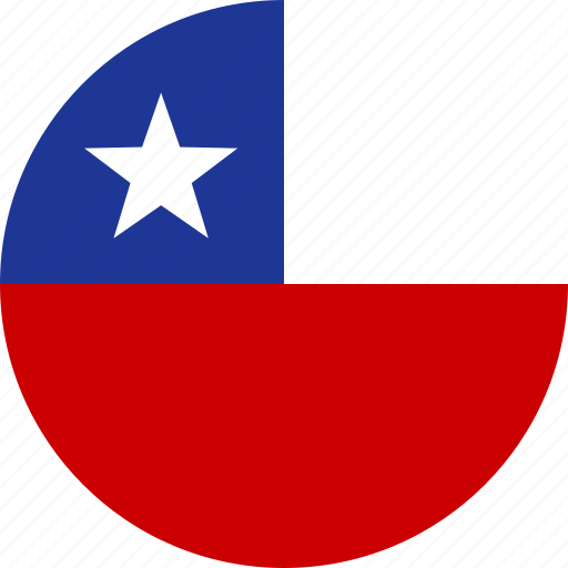 chile, chilean, circle, country, flag, national, republic icon