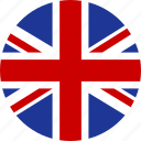 britain, circle, england, flag, great, kingdom, united, british