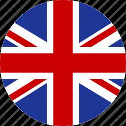 britain, british, circle, england, flag, great, kingdom, united icon