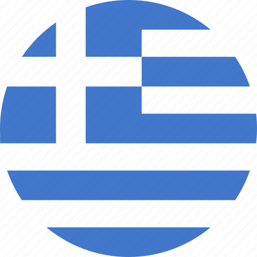 circle, country, flag, greece, greek, hellenic, national icon