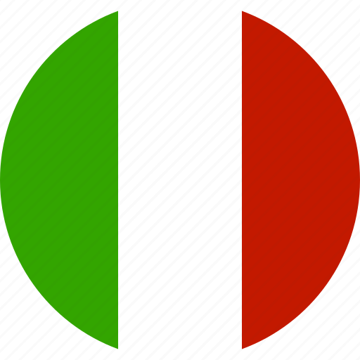 circle, country, flag, italian, italy, national icon