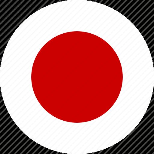 Circle Country Flag Japan Japanese Ninja Nippon Icon Icon - Japanese flag