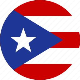 circle, country, flag, national, puerto, rican, rico icon
