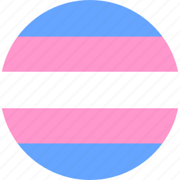 circle, flag, pride, trans, transgender, transsexual icon
