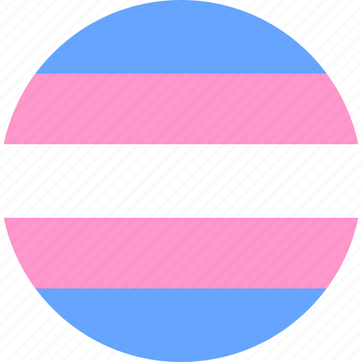 Pride Transsexual Flag Circle Trans Transgender Icon Download On Iconfinder