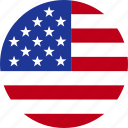 american, circle, flag, states, united, us, usa