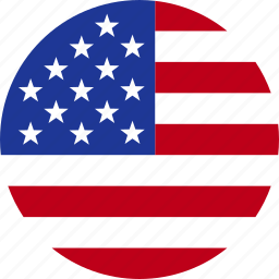 american, circle, flag, states, united, us, usa icon