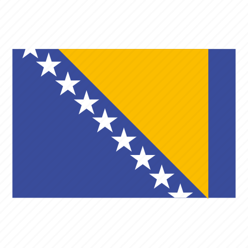 bosnia and herzegovina, bosnia and herzegovina flag, country, flag icon