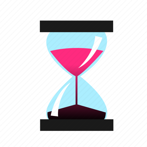 glass, hour, hourglass, time icon