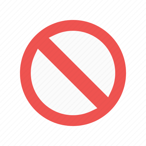 forbidden, prohibited, sign, stop icon