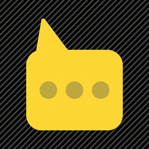 bubble, chat, message, talk icon