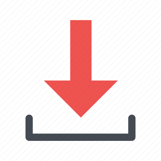 arrow, direction, down, load icon
