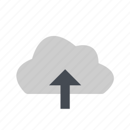 cloud, up, upload, weather icon
