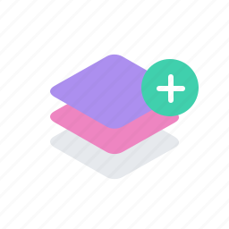 add, layer, layers, plus icon