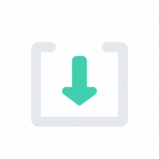 arrow, chevron, down, square icon